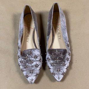 Sole Society Letticah Velvet Dusted Plum Loafers